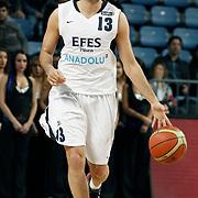 Efes Pilsen's Ender ARSLAN during their Turkish Basketball league match Efes Pilsen between Mersin BSB at the Sinan Erdem Arena in Istanbul Turkey on Saturday 19 March 2011. Photo by TURKPIX