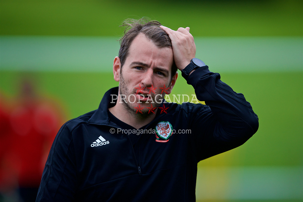 CARDIFF, WALES - Tuesday, September 4, 2018: Wales' Ronan Kavanagh during a training session at the Vale Resort ahead of the UEFA Nations League Group Stage League B Group 4 match between Wales and Republic of Ireland. (Pic by David Rawcliffe/Propaganda)