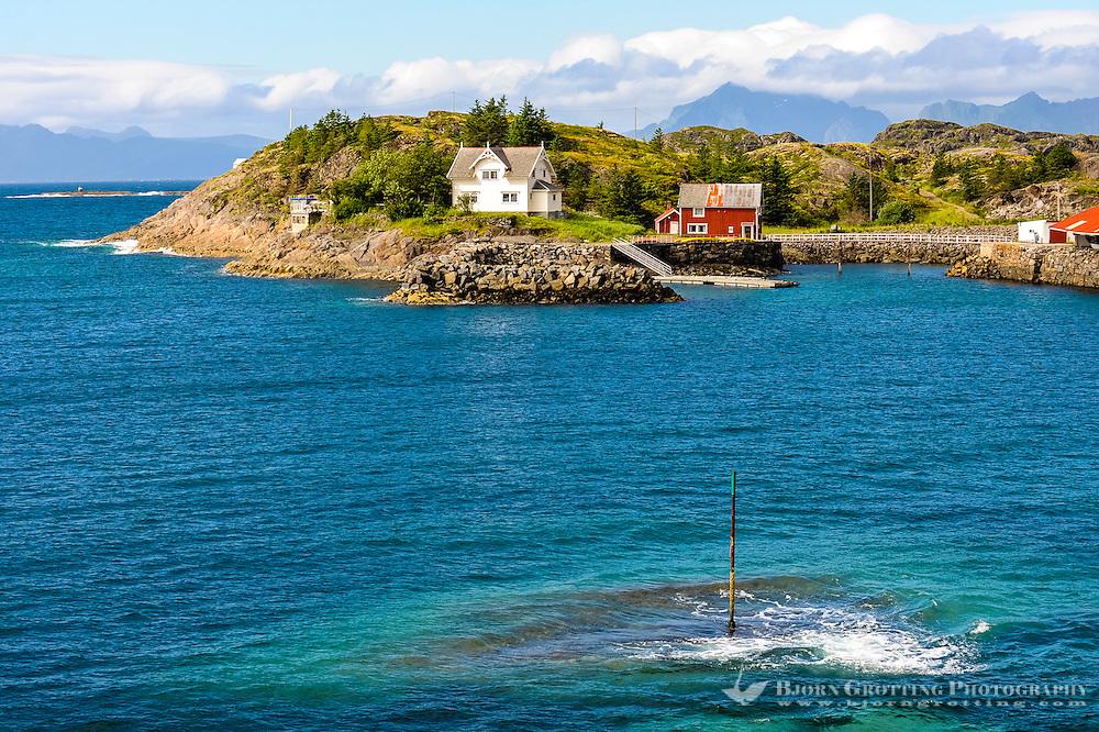Norway, Lofoten. Coastal landscape just outside Henningsvær fishing village.
