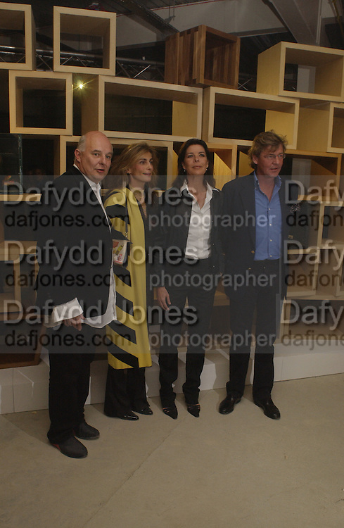 Mr. and Mrs. Rolf Sachs,, Princess Caroline of Monaco and Ernst of Hanover, Exhibition of furniture by Rolf Sachs,  Louise Guinness Gallery, 250 Brompton Rd. ONE TIME USE ONLY - DO NOT ARCHIVE  © Copyright Photograph by Dafydd Jones 66 Stockwell Park Rd. London SW9 0DA Tel 020 7733 0108 www.dafjones.com