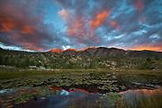 Twilight Peaks sunset from near Lime Creek Road.
