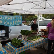 Bloomfield farms in Sausalito farmers market, Sausalito, California, USA