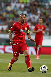 August 15, 2017 - Lisbon, Portugal - Steaua's forward Denis Alibec in action during the UEFA Champions League play-offs first leg football match between Sporting CP and FC Steaua Bucuresti at the Alvalade stadium in Lisbon, Portugal on August 15, 2017. Photo: Pedro Fiuza (Credit Image: © Pedro Fiuza via ZUMA Wire)