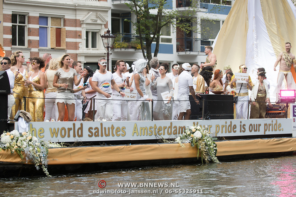 NLD/Amsterdam//20170805 - Gay Pride 2017, Boot Different Backgrounds Same Values