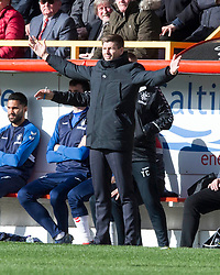 Rangers manager Steven Gerrard during the William Hill Scottish Cup quarter final match at Pittodrie Stadium, Aberdeen.