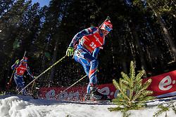 Michal Krcmar (CZE) competes during Men 12,5 km Pursuit at day 3 of IBU Biathlon World Cup 2015/16 Pokljuka, on December 19, 2015 in Rudno polje, Pokljuka, Slovenia. Photo by Urban Urbanc / Sportida