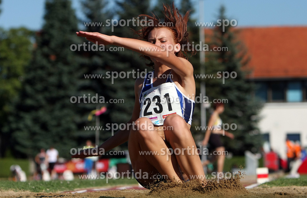 Petra Percic at Athletic National Championship of Slovenia, on July 19, 2008, in Stadium Poljane, Maribor, Slovenia. (Photo by Vid Ponikvar / Sportal Images).