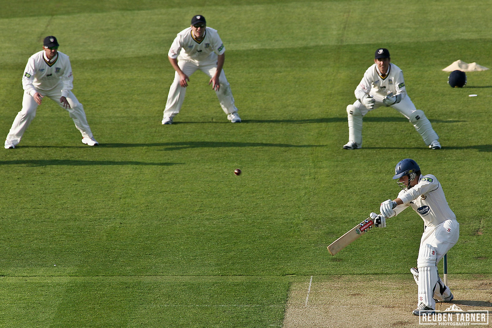 ©Reuben Tabner. 20/04/2011...Durham CCC v Sussex CCC.LV= County Championship..Chris Nash hits out a four whilst batting against Durham. ..Photo credit should read Reuben Tabner