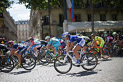 Lauren Tamayo (USA) of UnitedHealthcare Cycling Team rides in the peloton during the La Course, a 89 km road race in Paris on July 24, 2016 in France.
