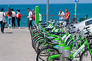 Municipal bicycle rental service now available to all residents and visitors Photographed in Jaffa, Tel Aviv, Israel