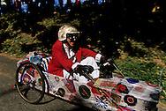 Cevennes. landscape  hand made car race    France