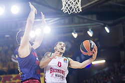 January 27, 2017 - Barcelona, Spain - Shane Larking of Baskonia defended by Victor Faverani of FC Barcelona during the Euroleague Turkish Airlines EuroLeague regular season between FC Barcelona vs Baskonia Vitoria Gasteiz at Palau Blaugrana on January 28th, 2017 in Barcelona, Spain. (Credit Image: © Xavier Bonilla/NurPhoto via ZUMA Press)