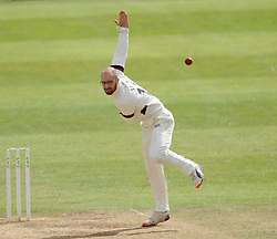 Somerset's Jack Leach in action.  - Mandatory byline: Alex Davidson/JMP - 07966386802 - 12/09/2015 - CRICKET - The County Ground -Taunton,England - Somerset CCC v Hampshire CCC - Day 4