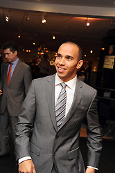 LEWIS HAMILTON at the TAG Heuer British Formula 1 Party at the Mall Galleries, London on 15th September 2008.
