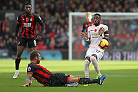 Football - 2018 / 2019 Premier League - AFC Bournemouth vs. Manchester United<br /> <br /> Bournemouth's Steve Cook tackles Fred of Manchester United during the Premier League match at the Vitality Stadium (Dean Court) Bournemouth   <br /> <br /> COLORSPORT/SHAUN BOGGUST