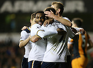 Tottenham's Danny Rose and Kyle Walker celebrate their sides second goal during the Premier League match at White Hart Lane Stadium, London. Picture date December 14th, 2016 Pic David Klein/Sportimage