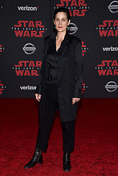 Carrie-Anne Moss attends the world premiere of Disney Pictures and Lucasfilm's 'Star Wars: The Last Jedi' at The Shrine Auditorium on December 9, 2017 in Los Angeles, CA, USA. Photo by Lionel Hahn/ABACAPRESS.COM
