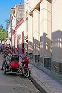 Motorcycle in Bayamo, Granma, Cuba.