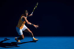 January 20, 2019 - Melbourne, VIC, U.S. - MELBOURNE, VIC - JANUARY 20: RAFAEL NADAL (ESP) (AUS) during day seven match of the 2019 Australian Open on January 20, 2019 at Melbourne Park Tennis Centre Melbourne, Australia (Photo by Chaz Niell/Icon Sportswire) (Credit Image: © Chaz Niell/Icon SMI via ZUMA Press)