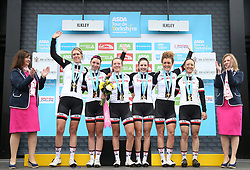 Best team Sunweb on the podium during day two of the ASDA Women's Tour de Yorkshire from Barnsley to Ilkley.