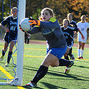 BATH, Maine --  10/1/13 --   <br /> Oceanside keeper Kalyn Grover<br /> Morse girls beat Oceanside 1-0 on Tuesday at home. Photo copyright Roger S. Duncan.