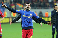 Raul Rusescu from Steaua Bucharest celebrates after the game