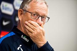October 9, 2018 - Oslo, NORWAY - 181009 Lars Lagerbäck, head coach of Norway, during a press event on October 9, 2018 in Oslo..Photo: Jon Olav Nesvold / BILDBYRÃ…N / kod JE / 160322 (Credit Image: © Jon Olav Nesvold/Bildbyran via ZUMA Press)