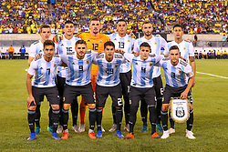 September 11, 2018 - East Rutherford, NJ, U.S. - EAST RUTHERFORD, NJ - SEPTEMBER 11:  The Argentina starting 11 pose for a photo prior to the first half of the International Friendly Soccer game between Argentina and Colombia on September 11, 2018 at MetLife Stadium in East Rutherford, NJ.   (Photo by Rich Graessle/Icon Sportswire) (Credit Image: © Rich Graessle/Icon SMI via ZUMA Press)