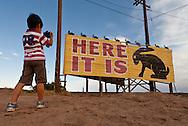 Yuto Inoue, 6 yr old boy from Japan, Jackrabbit Trading Post, Route 66, Joseph City, AZ