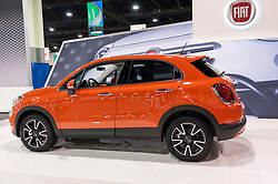 CHARLOTTE, NC, USA - November 11, 2015: Fiat 500X on display during the 2015 Charlotte International Auto Show at the Charlotte Convention Center in downtown Charlotte.