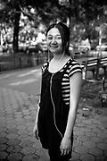 An asian girl in Manhattan. New York City, 16 june 2010. Christian Mantuano / OneShot