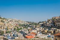 Salt, Jordan - May 6, 2013: panorama of the city of Salt in Jordan on may 6th, 2013