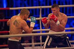 Mirzet Bajrektarevic and Josef Krivka, during the WBO-European Champion Title, on October 17, 2014 in Arena Tabor, Maribor, Slovenia. Photo by Gregor Krajncic / Sportida.com