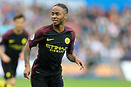 Raheem Sterling of Manchester city looks on.  Premier league match, Swansea city v Manchester city at the Liberty Stadium in Swansea, South Wales on Saturday 24th September 2016.<br /> pic by Andrew Orchard, Andrew Orchard sports photography.