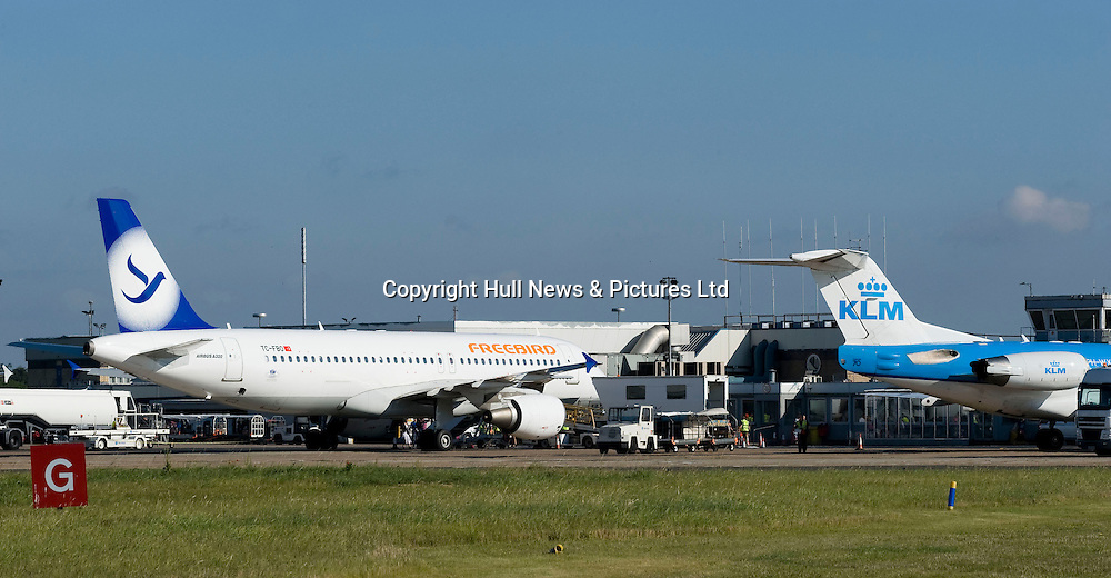 30 August 2013: Humberside Airport.<br /> Picture: Sean Spencer/Hull News & Pictures Ltd<br /> 01482 772651/07976 433960<br /> www.hullnews.co.uk   sean@hullnews.co.uk