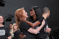 Sarah Ferguson & Naomi Campbell, LFW a/w 2015: Fashion For Relief - Catwalk Show & Fundraiser, Somerset House, London UK, 19 February 2015, Photo By Brett D. Cove ©under licence to London News Pictures. +44 (0)208 354 4272