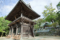 """Tsukubajinja, or """"Tsukuba shrine"""", is a Shinto shrine at the base of Mount Tsukuba. Mt.Tsukuba Shrine is a classical example of shrine architecture. Worshippers invoke the male god Izanagi and the female god Izanami for lasting marriages, safety, prosperity and warding off evil spirits. 9th century."""