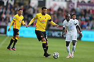 Etienne Capoue of Watford in action. Premier league match, Swansea city v Watford at the Liberty Stadium in Swansea, South Wales on Saturday 22nd October 2016.<br /> pic by  Andrew Orchard, Andrew Orchard sports photography.