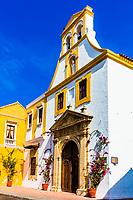Colorful streets of Centro Historico<br /> aera of Cartagena de los indias Bolivar in Colombia South America