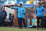 Lincoln City Manager Danny Cowley gives instructions with Lincoln City Assistant Manager Nicky Cowley during the The FA Cup fourth round match between Lincoln City and Brighton and Hove Albion at Sincil Bank, Lincoln, United Kingdom on 28 January 2017. Photo by Phil Duncan.