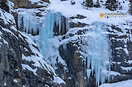 Weeping Wall on Cirrus Mountain in winter  in Banff National Park, Alberta, Canada
