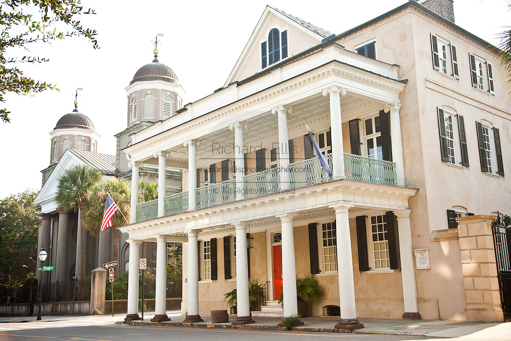 Historic homes on Meeting Street in Charleston, SC.