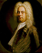 George Frederic Handel (1685-1759) German-born composer who settled in England. Portrait of 1726-1728 attributed to Balthasar Denner (1726-1749). Oil on canvas.