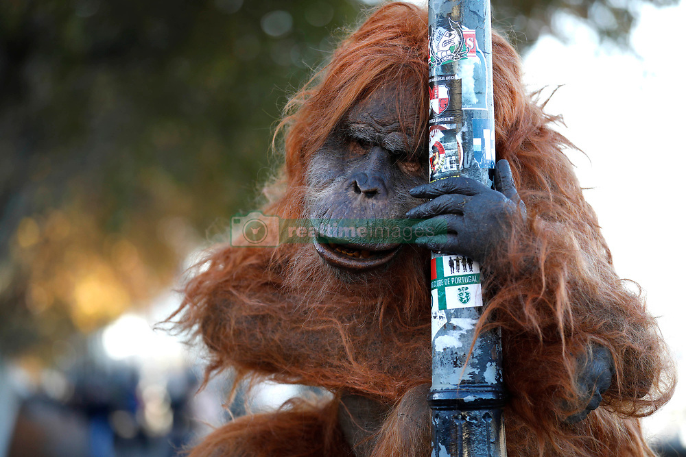 EDITORIAL USE ONLY<br /> An ultra-realistic animatronic Orangutan appears on Embankment in London to highlight the threat to the survival of the species due to deforestation caused by palm-oil production, following Iceland&Otilde;s Christmas advert being banned.