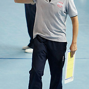 Vakifbank GS TT's coach Giovanni GUIDETTI during their Women's Volleyball CEV Champions League semi final match at Burhan Felek Arena in Istanbul, Turkey on 20 March 2011. Photo by TURKPIX