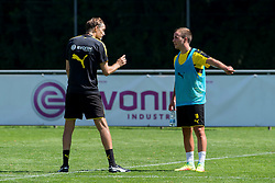 Bad Ragaz, Schweiz 04.08.2016, Trainingslager BV Borussia Dortmund, BVB,  Trainer Thomas Tuchel (BVB) und Mario Goetze (BVB)  / 040816<br /> <br /> ***Training camp of Borussia Dortmund in Bad Ragaz, Switzerland, August 4th, 2016***