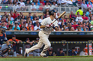 Joe Mauer #7 of the Minnesota Twins bats against the Detroit Tigers on June 15, 2013 at Target Field in Minneapolis, Minnesota.  The Twins defeated the Tigers 6 to 3.  Photo: Ben Krause