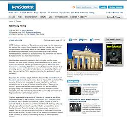 New Scientist; Brandenburg Gate , Berlin