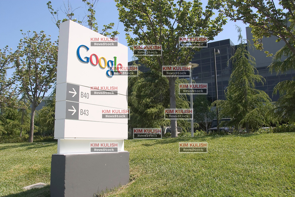 APRIL 27, 2004, Mountain View, CA, UNITED STATES-    Exterior of Google's growing Mountain View, Calif. campus. Google is expected this week to announce plans for an initial public stock offering that could value the company at about $20 billion.  Photo by Kim Kulish