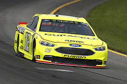 June 1, 2018 - Long Pond, Pennsylvania, United States of America - Ryan Blaney (12) brings his car through the turns during practice for the Pocono 400 at Pocono Raceway in Long Pond, Pennsylvania. (Credit Image: © Chris Owens Asp Inc/ASP via ZUMA Wire)